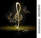 treble clef | Shutterstock .eps vector #88339849