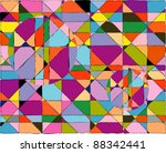 colorful mosaic background | Shutterstock .eps vector #88342441