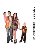 young pregnant family with... | Shutterstock . vector #8835283