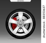 car wheel   Shutterstock .eps vector #88353637