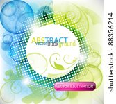 eps10 vector colorful floral... | Shutterstock .eps vector #88356214