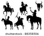 Silhouettes Of American Indian...