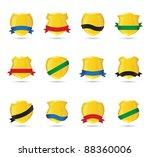 golden shields | Shutterstock .eps vector #88360006