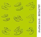 Men\'s Shoes  Vector Contour...