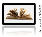 book and generic teblet...   Shutterstock . vector #88367365