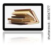 book and generic teblet... | Shutterstock . vector #88367377