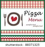 pizza menu template  vector... | Shutterstock .eps vector #88371325