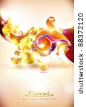 abstract colorful floral vector ... | Shutterstock .eps vector #88372120