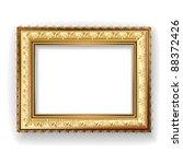 wooden vintage gold frame | Shutterstock .eps vector #88372426