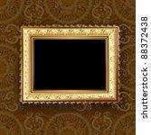 wooden vintage gold frame | Shutterstock .eps vector #88372438