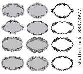 set of ornate vector frames .... | Shutterstock .eps vector #88373977