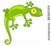 cartoon character lizard... | Shutterstock .eps vector #88385299