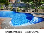 residential inground swimming... | Shutterstock . vector #88399096