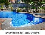 residential inground swimming... | Shutterstock . vector #88399096