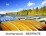 Canoes For Rent On Fall Lake I...