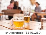 scene from a city restaurant... | Shutterstock . vector #88401280