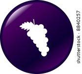 grapes fruit button   Shutterstock .eps vector #8840257