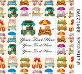 Cartoon Market Store Car Card