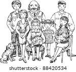 family | Shutterstock .eps vector #88420534