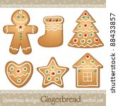 Set Of Gingerbread  Elements...