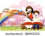 happy christian   religion... | Shutterstock .eps vector #88442332