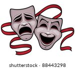 vector illustration of comedy... | Shutterstock .eps vector #88443298