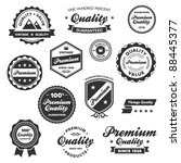 Stock vector set of vintage retro premium quality badges and labels 88445377