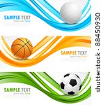 set of sport banners | Shutterstock .eps vector #88450930