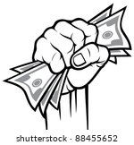 hand holding banknotes | Shutterstock .eps vector #88455652