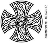 cross tribal tattoo | Shutterstock .eps vector #88463347