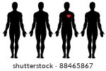 anatomy of love.   four men's... | Shutterstock .eps vector #88465867