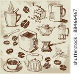 coffee background | Shutterstock .eps vector #88466467