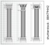 doric  ionic and corinthian... | Shutterstock .eps vector #88479442