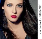 fashion woman with beautiful... | Shutterstock . vector #88486630