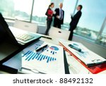 image of business documents on... | Shutterstock . vector #88492132