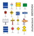 set of road sign | Shutterstock .eps vector #88505404