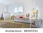 Stylish bright kids bedroom - stock photo