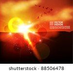 dynamic shiny sunshine vector... | Shutterstock .eps vector #88506478