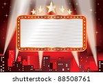 vector blank billboard over hot ... | Shutterstock .eps vector #88508761