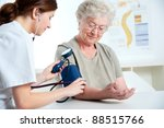 female doctor measuring blood... | Shutterstock . vector #88515766