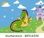 illustration on a white... | Shutterstock . vector #88516540