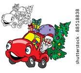 vector illustration of santa... | Shutterstock .eps vector #88518838