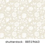 Stock vector roses seamless background pattern for continuous replicate see more seamless backgrounds in my 88519663