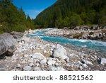 Mountain River. Boulders....
