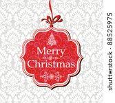 merry christmas card. vector... | Shutterstock .eps vector #88525975