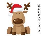reindeer child sitting in... | Shutterstock .eps vector #88527370