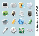sticker button set. icons for... | Shutterstock .eps vector #88565491