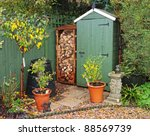 English Back Garden In Autumn...