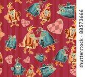 seamless bird pattern   funny... | Shutterstock . vector #88573666