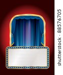 vector blue stage with blank... | Shutterstock .eps vector #88576705